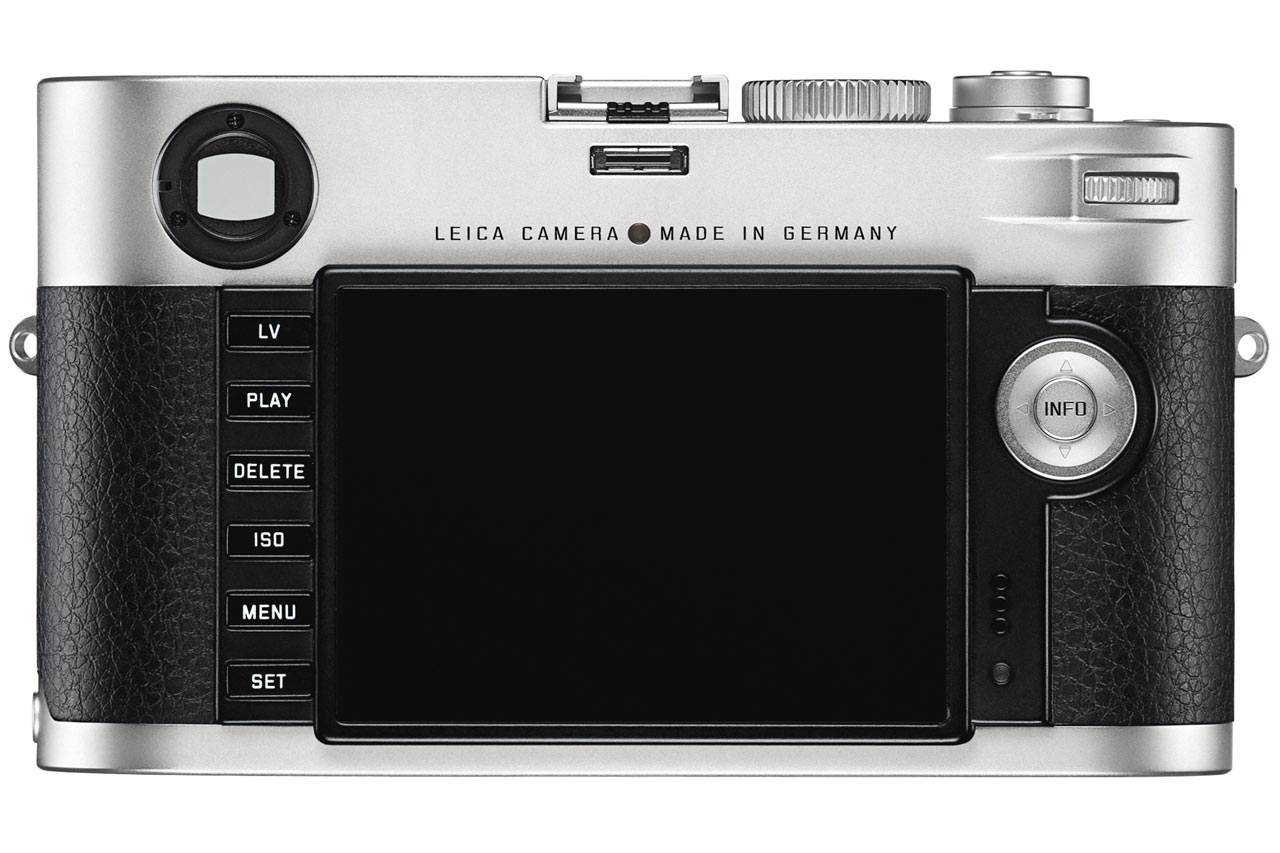 The back of the Leica M with all new interface