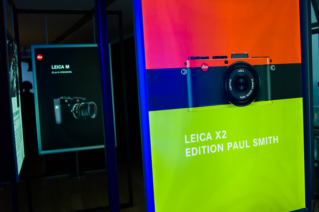 Large backlit panels heralded the new Leica cameras of 2012