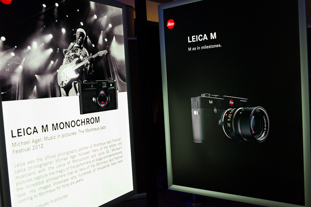 The 2 latest Leica M rangefinder cameras. I'll probably supplement my own Leica M9 with the new Leica M when it becomes available next year.