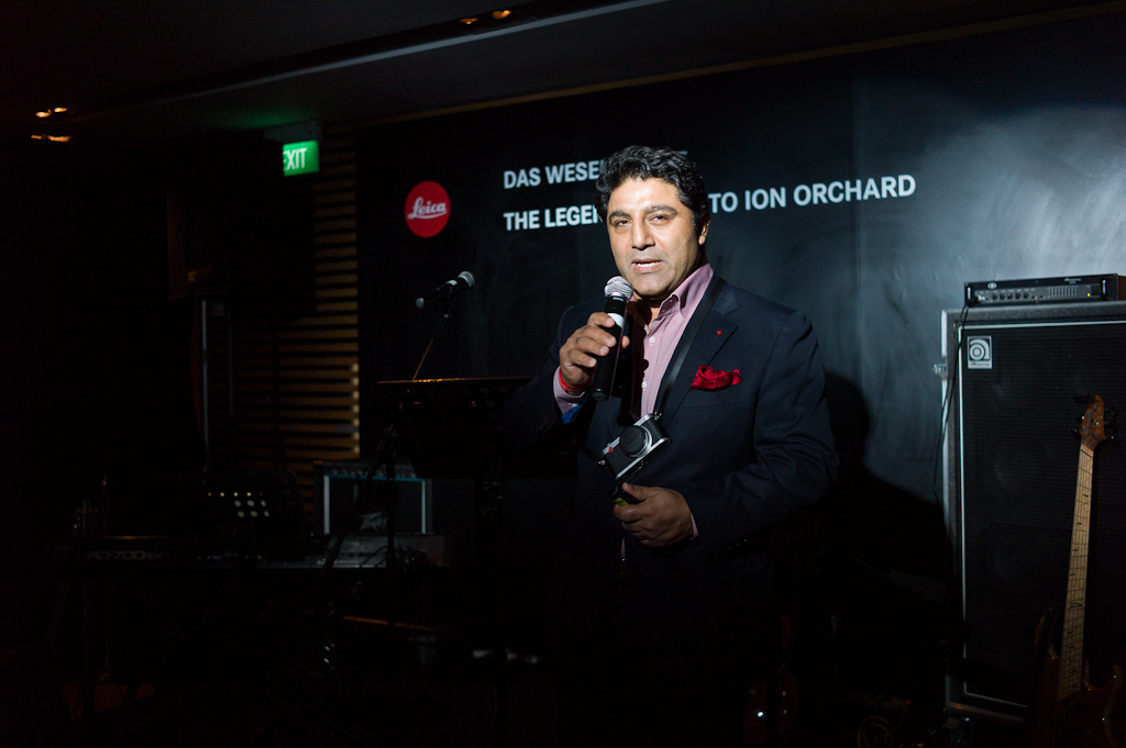 Sunil Kaul, general manager of Leica Singapore giving the opening address.