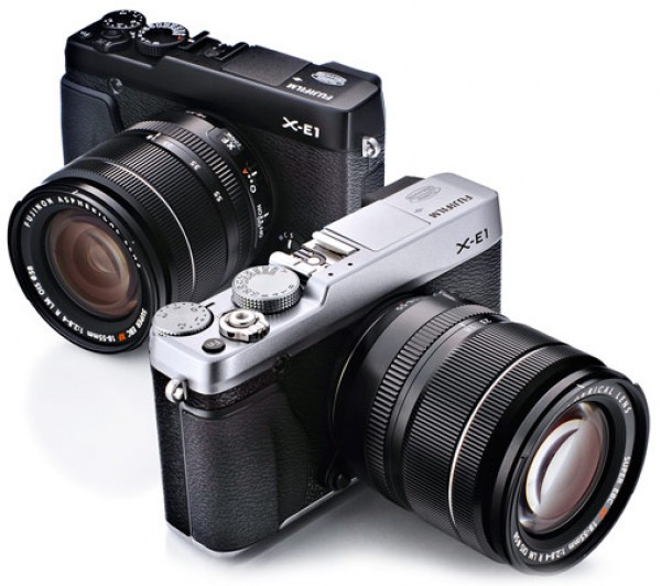 Silver and Black versions of the Fujifilm X-E1
