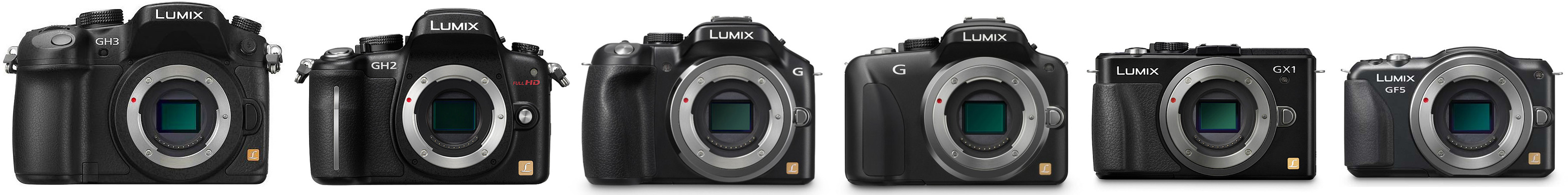 Panasonic Micro Four Thirds Cameras: GH3, GH2, G5, G3, GX1, GF5