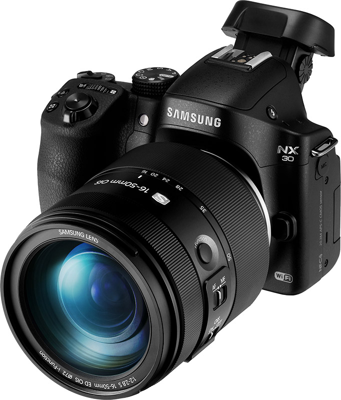 Samsung NX30 with NX 16-50mm f/2.0-2.8 Lens