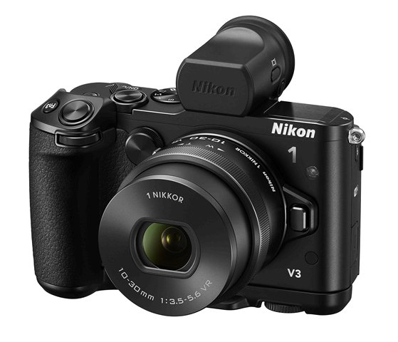 Nikon 1 V3 with 10-30mm f/3.5-5.6 PD and EVF and grip