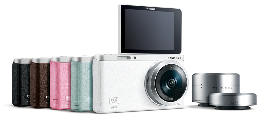 Samsung NX Mini with 9mm and 9-27mm lenses