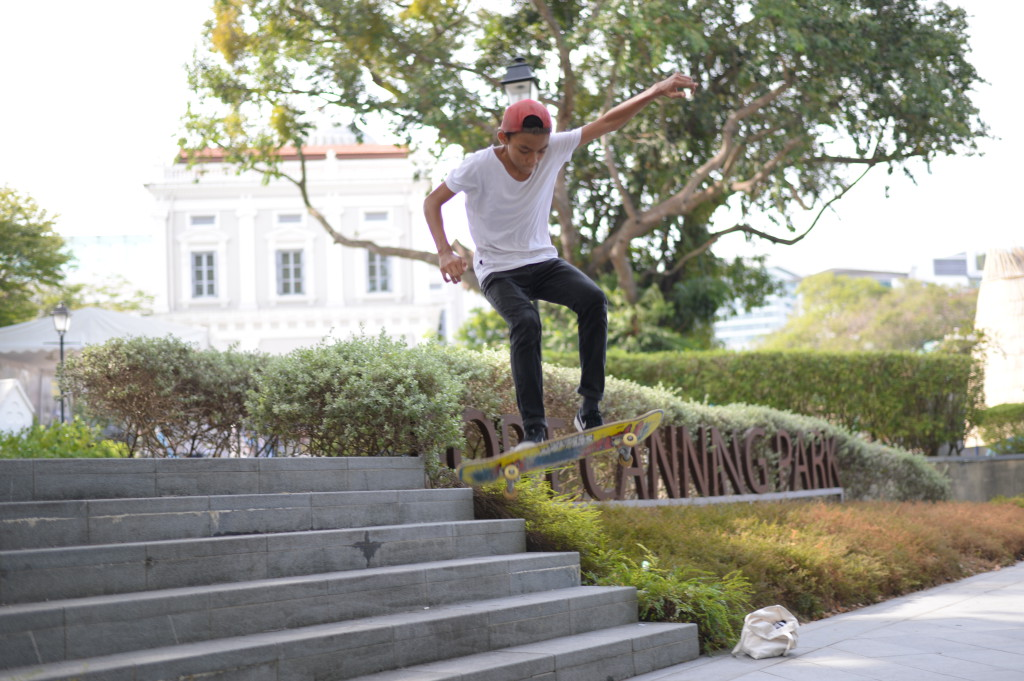 The Nikon Df is fast enough to capture fast action like this skateboarder in action. Photo by David Teo.