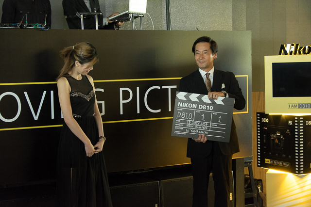 Nikon Asia President and Chief Regional Officer (S.E. Asia, Oceania, Middle East, Africa Region), Mr Noriyaki Yamaguchi launches the Nikon D810 with the Nikon clapperboard.