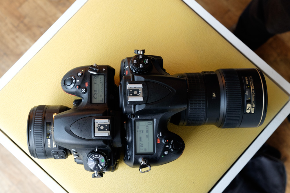 Nikon D750 with AF-S 50mm f/1.4G (Left) and Nikon D750 with AF-S 16-35mm f/4 (Right)