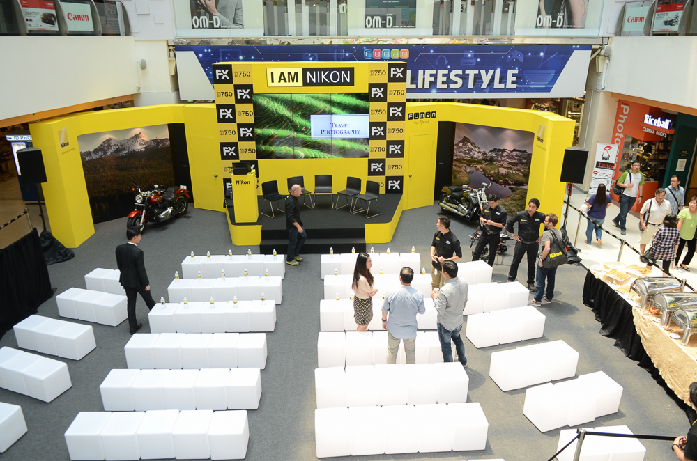 The stage setup for the Nikon FX Experience
