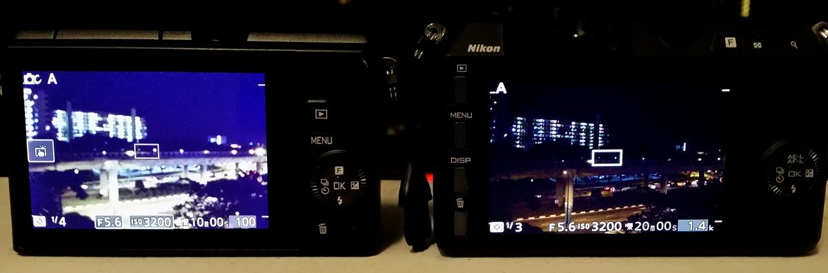Live view between Nikon 1 J4 and V2
