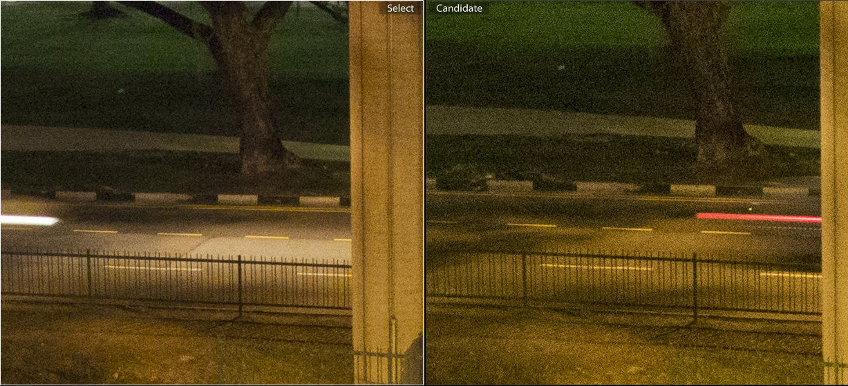 ISO 1600. V2 on the right, J4 on the left.