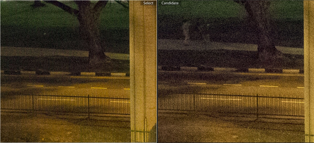 ISO 3200. V2 on the left, J4 on the right.