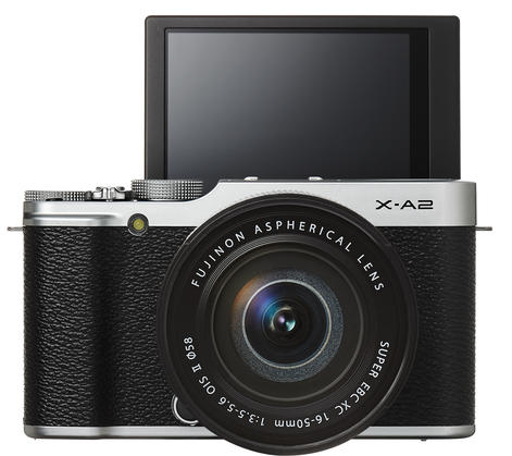 Fujifilm X-A2 Front with Tilted LCD