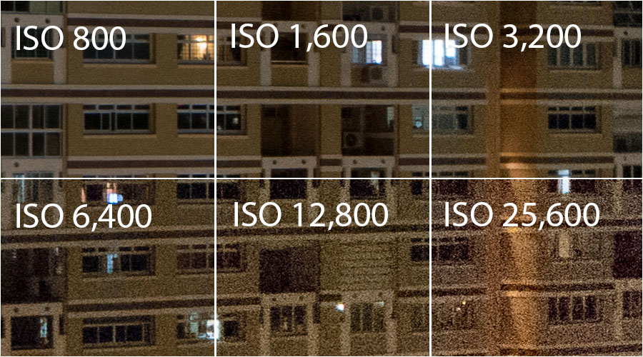 Samsung NX500 ISO Comparison