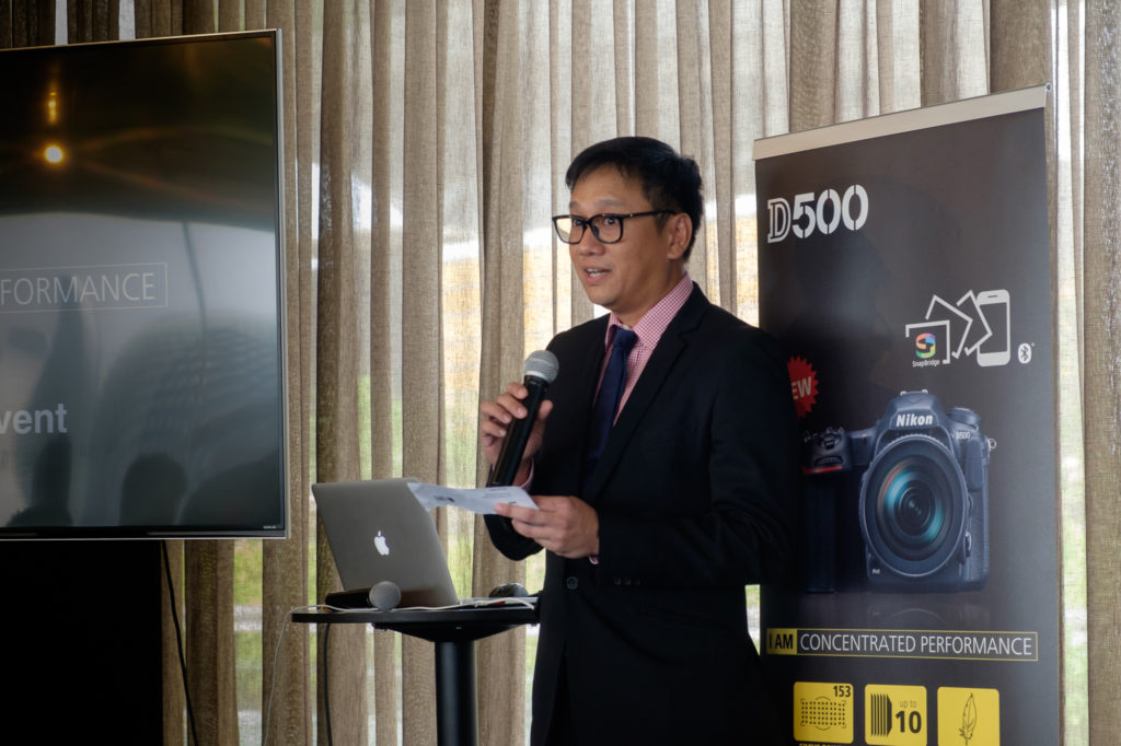 Sunny Ng, Senior Sales and Marketing Manager of Nikon Singapore