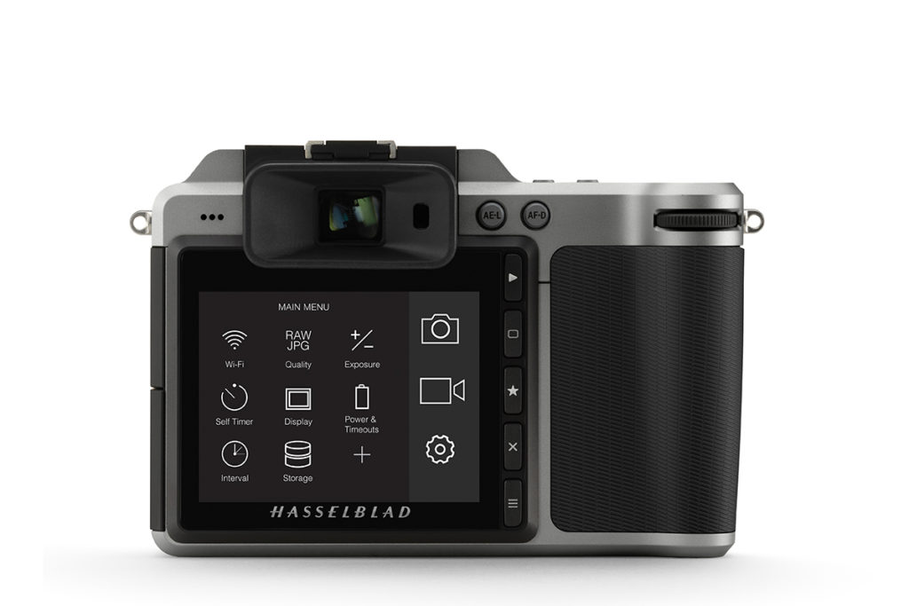 Hasselblad X1D's Rear LCD